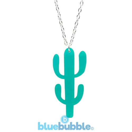 Bluebubble CACTUS GARDEN Necklace Kitsch Kawaii Novelty Cool Mexican Fancy Dress