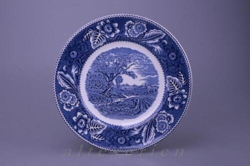 Plato sopero d 25,2 cm Wood /& Sons Inglaterra Burslem Woodland azul