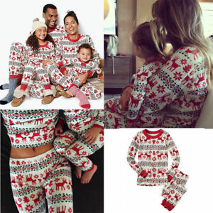 AU XMAS Family Matching Adult Women Kids Christmas Nightwear Pyjamas ... 53ee543be