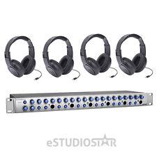 PreSonus HP60 6-Channel Headphone Amp with Headphones