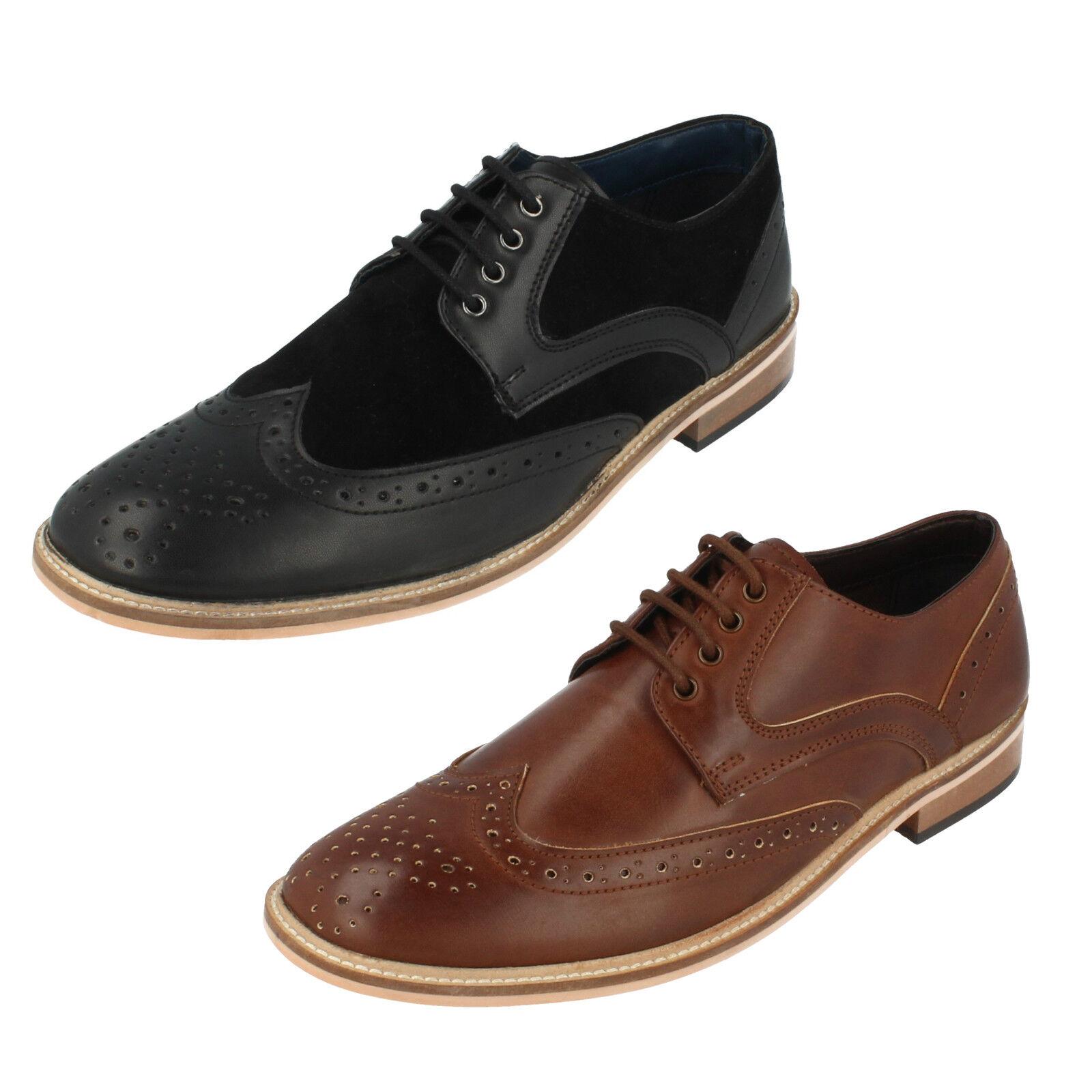Mens Lambretta Brogue Lace Up shoes 21004