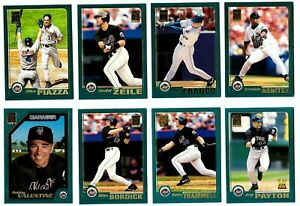 2001-Topps-NEW-YORK-METS-Team-Set-w-Traded-52-Cards-NM-MT