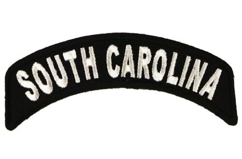 "South Carolina Rocker Patch State of SC MC Biker Embroidered 4/"" Iron On FAST SHP"