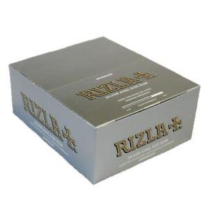 RIZLA-SILVER-KING-SIZE-SLIM-ULTRA-THIN-CIGARETTE-SMOKING-ROLLING-PAPERS-ORIGINAL