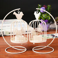 Vintage Birdcage Candle Holder Tealight Lantern Hanging Stand Metal Home Decor