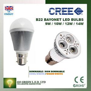B22-3W-9W-12W-DIMMABLE-CREE-BAYONET-CAP-LED-240V-SPOTLIGHT-BULBS-HOME-WARM-COOL