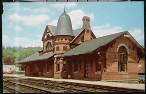 OAKLAND-MD-B-amp-O-Railroad-RR-Station-Vtg-Postcard-Old-Baltimore-amp-Ohio-PC