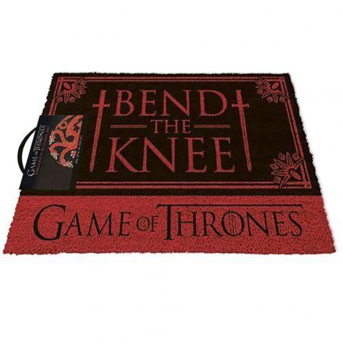 Juego de tronos Puerta Mat doblar la rodilla-Casa Targaryen bienvenido Mate