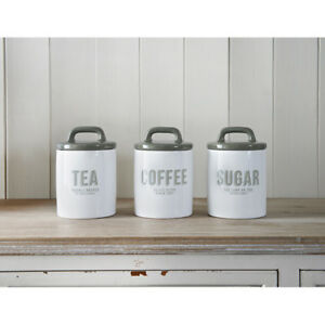 vintage style kitchen canisters vintage retro style white ceramic tea coffee sugar canisters storage jars set ebay 9115