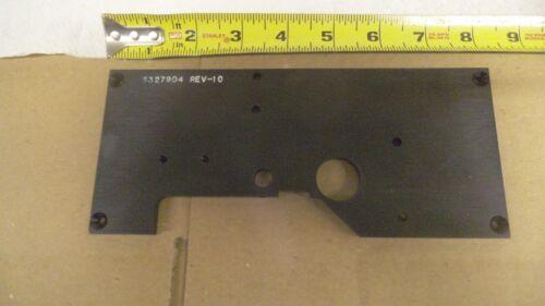 "Black Anodized Aluminum plate bracket 8/"" x 3-1//2/"" x .254 thick machined"