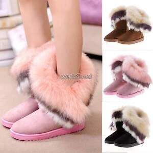 Women-Ladies-Winter-Faux-Fur-Lined-Fashion-Snow-Ankle-Boots-Shoes-UK-Size-3-6-5