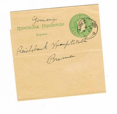 Aufrichtig Südamerika Sauberes Streifband Aus Buenos Aires 1897 Argentinien N Diverse Philatelie Deutschland
