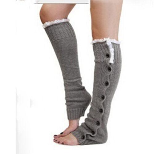 Damen Winter stricken über Knie Lange Stiefel Warm Socken Strümpfe Stocking JO