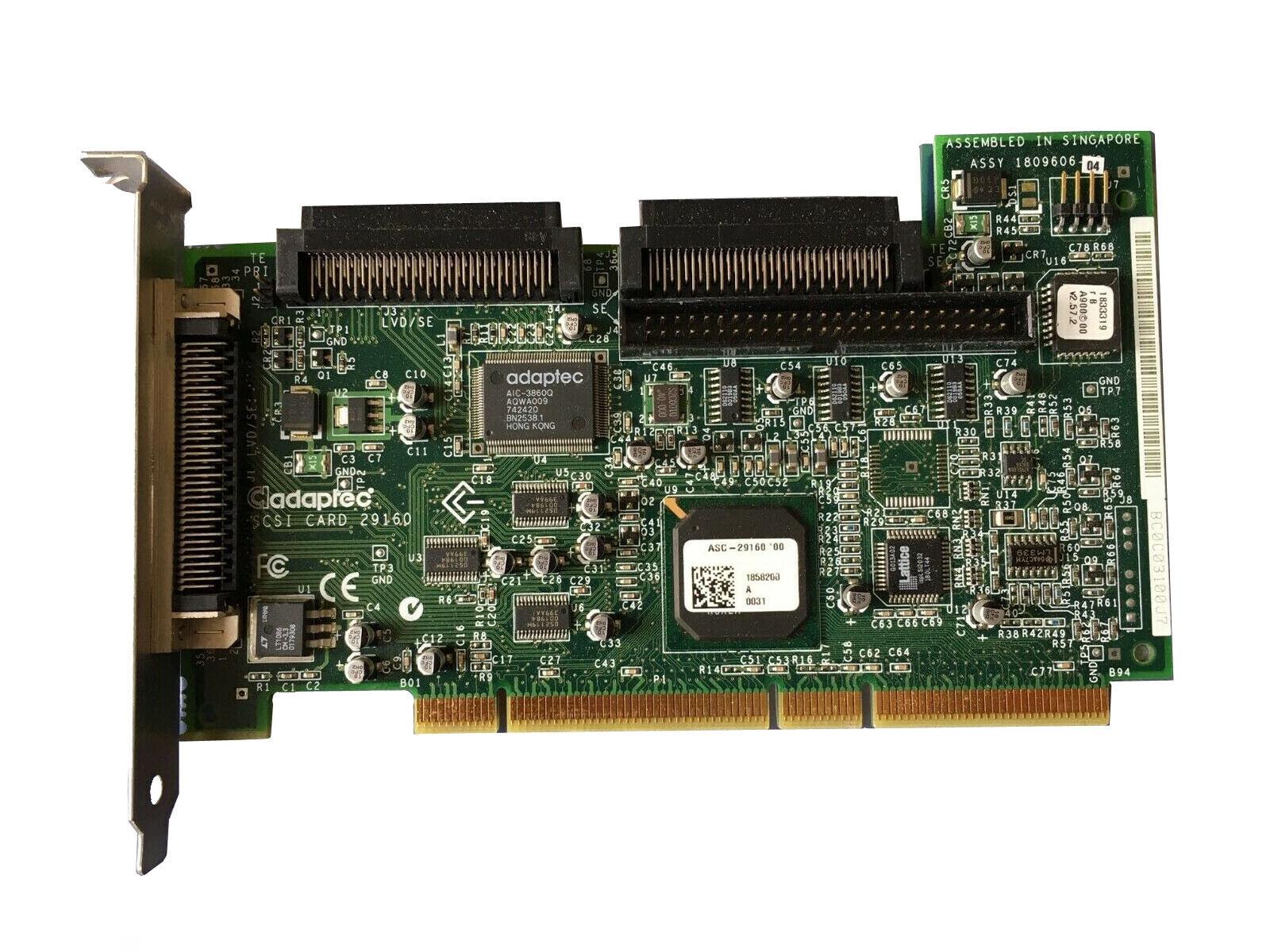 Adaptec SCSI card 29160 SCSI Card Controller ** 13