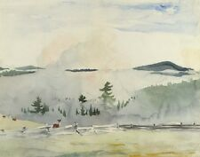 Homer Winslow Landscape With Deer In The Morning Haze Print 11 x 14 #6229