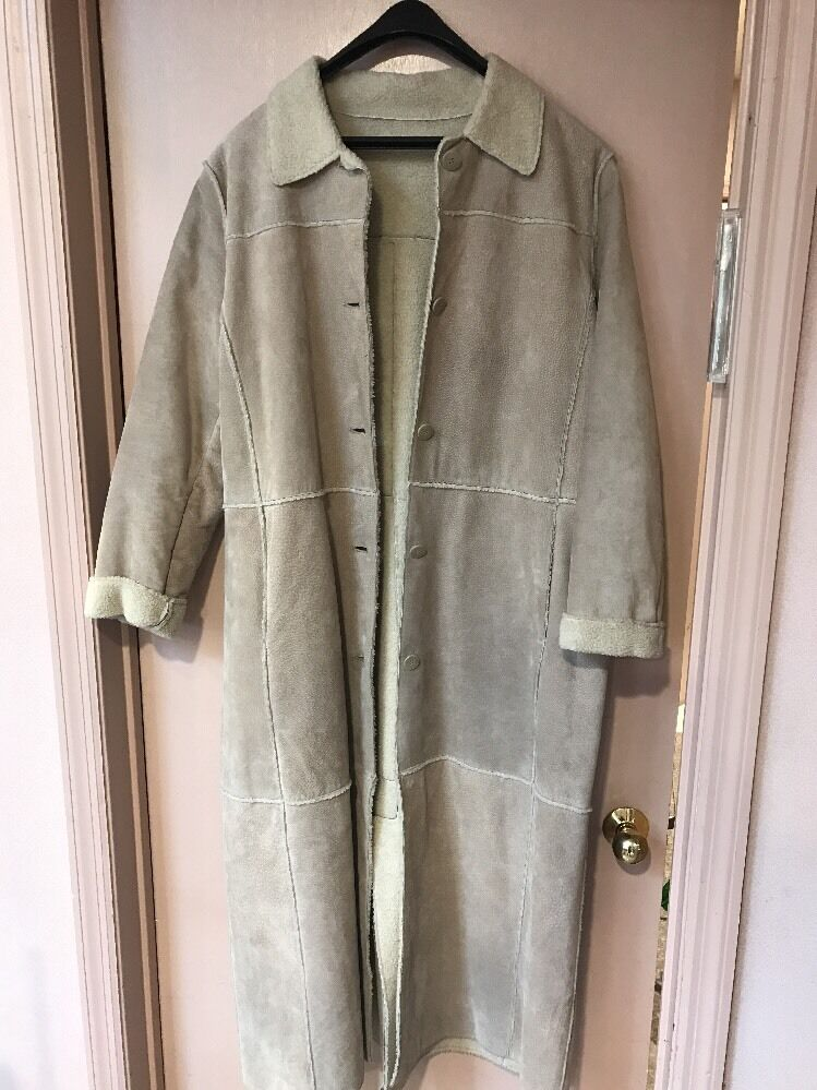 Colebrook & Co Long Suede Coat Women's XL