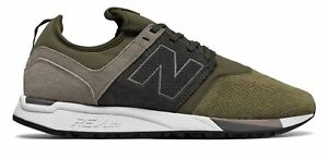 New-Balance-Men-039-s-247-Luxe-Shoes-Green-with-Tan