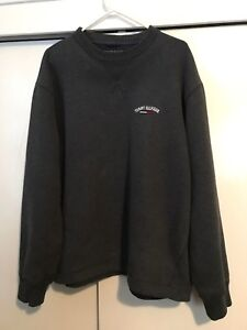 Details about Vintage Tommy Hilfiger Spellout Hoodie Pullover Sweater Men's L 90's