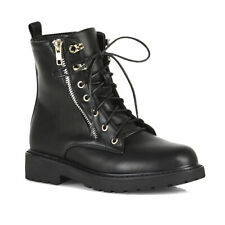Goldmine Touch Fasten Black Leather