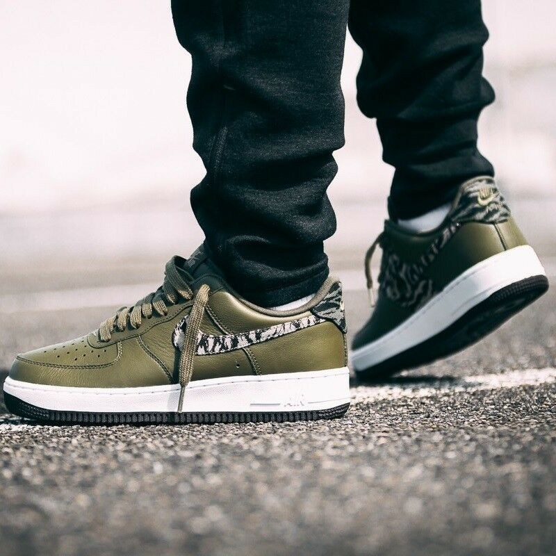 NIKE AIR FORCE 1 PREMIUM Tiger Camo & Olive MEN'S COMFY SHOES LIFESTYLE SNEAKER