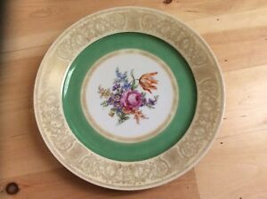 Details about Charming Tirschenreuth Porcelain Platter Hand Painted in  Bavaria in early 1900's