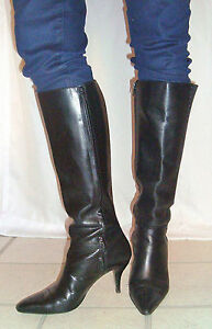 hooker boots Leather