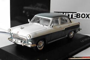 WOLGA-M-21-GREY-WHITE-1959-WHITEBOX-WB134-1-43-PAYS-DE-L-039-EST-URSS-CCCP-RUSSIA