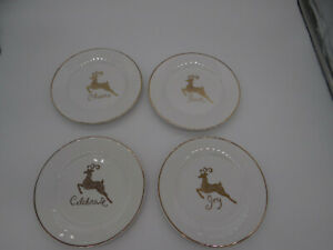 Gibson-Celebration-Dessert-Plates-Gold-Reindeer-Set-of-4-Joy-Peace-7-1-2-034