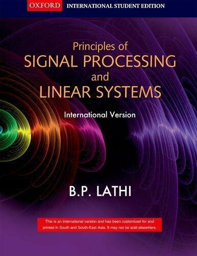 Signal Processing And Linear Systems By B P Lathi 2000 Hardcover