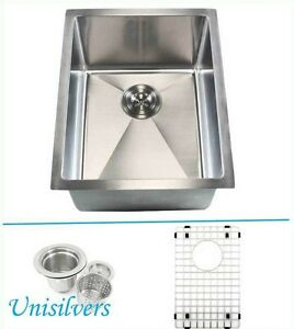 Square Corner Sink : ... Radius Square Corner Stainless Steel Kitchen / Island Bar Sink eBay