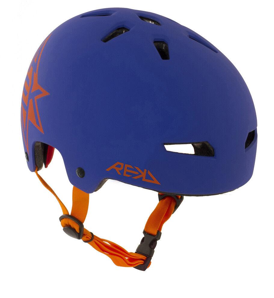 REKD - Elite Icon Helmet - bluee orange- Kids Crash Helmet