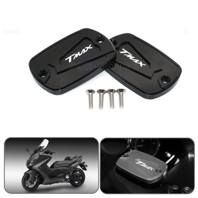 2 x Cover Master Cylinder Logo for Yamaha T-Max 500 Tmax 530 Black