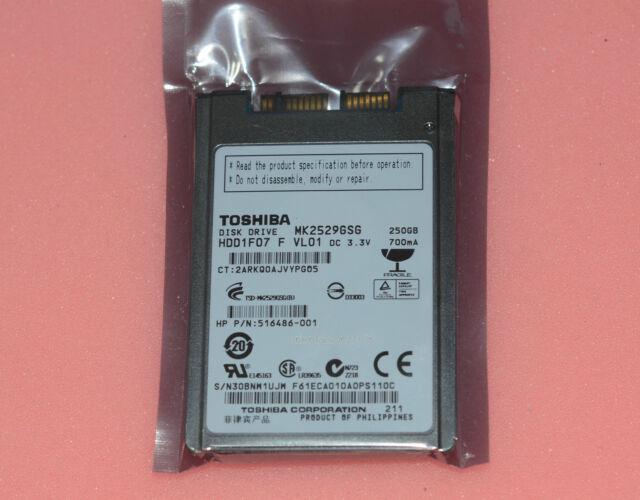 """601794-001 HP P//N Toshiba HDD1F14 1.8/"""" 250GB Micro-SATA 5400RPM MK2533GSG"""
