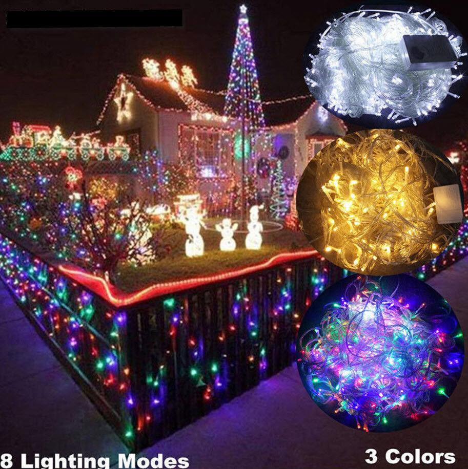 (USA) Plug 10-100m 100-800 Led-Licht Wasserfest Fee Schnur Hochzeit Weihnachten