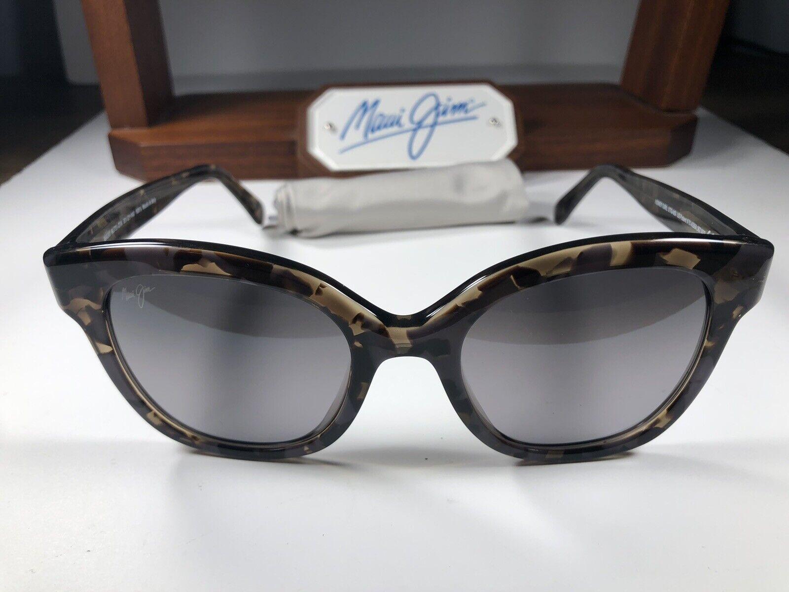 *Maui Jim Honey Girl MJ 751-27A Grey Tortoise Sunglasses W/Grey Polarized Lens