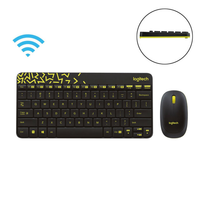bcba6ba402e Logitech Mk240 Nano 2.4g Wireless Keyboard Mouse Combo Mice Gaming 1000dpi  Mini
