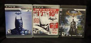 Batman-Arkham-Origins-City-Asylum-Sony-Playstation-3-ps3-Game-Lot-funktioniert-getestet