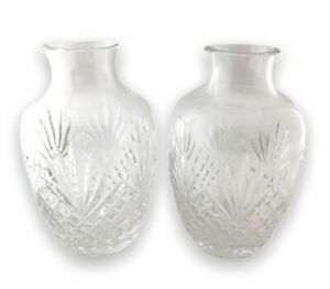 Lead Crystal Vase Pineapple Cut Fan