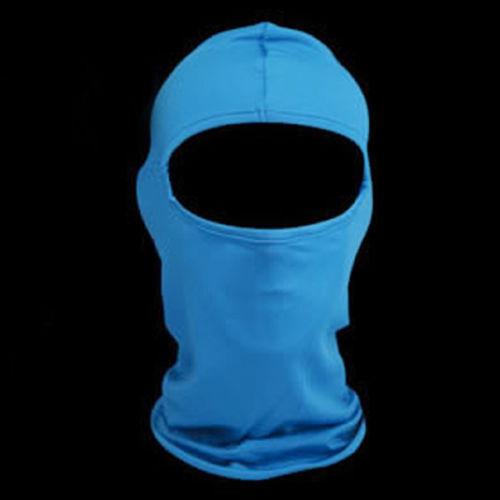 Solid Turquoise Blue Polyester Microfiber Balaclava Ninja Swat Face Mask Biker