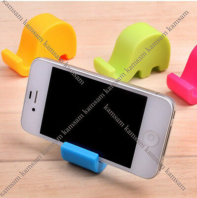 lovely elephant cell mobile phone tablet name card tableware holder multipurpose