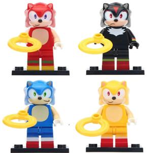 The Hedgehog Minifigure Sonic Shadow Knuckles Super Sonic