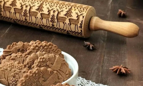 Embossing Cookie Dough Rolling Pin