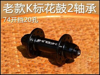 74mm OLD Kinetix 20 hole 2 bearings hubs Fold Bicycle bmx BYA412 bike front hub