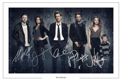 THE FOLLOWING CAST AUTOGRAPH SIGNED PHOTO PRINT
