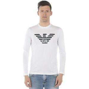 Emporio-Armani-T-Shirt-Maglia-manica-lunga-Cotone-Uomo-F-W-19-20
