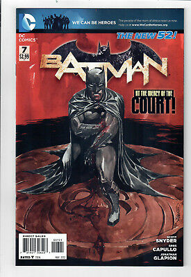 NM DUSTIN NGUYEN VARIANT COVER BATMAN THE NEW 52 #7 VF 2nd series 2011