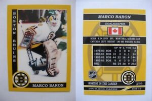2015-SCA-Marco-Baron-Boston-Bruins-goalie-never-issued-produced-d-10-super-rare