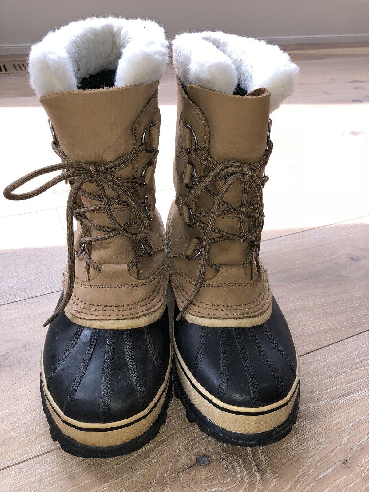 Sorel Caribou Women's NL 1005-280 Buff Brown Waterproof Boots - Size 9