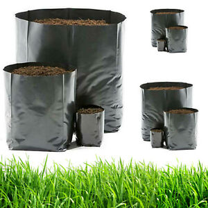 Details About 6 Pcs 3 Gal Nursery Plant Pots Grow Bags Container Seedling Raising