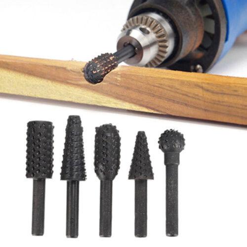 5 Stück 1//4 Black Carbon Steel Bohrer Workshop Schneiden Schnitzen Holzwerkzeug